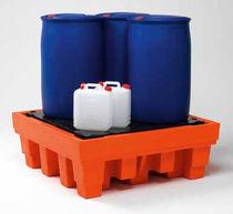 Cubeta de retención multiusos / de 4 bidones / de polietileno / rígida