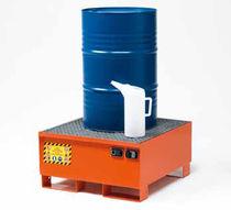 Cubeta de retención multiusos / de acero al carbono / rígida