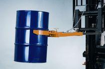 Sistema de vaciado de barriles / para carretilla elevadora