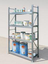 Sistema de estanterías con tablas / para baja carga / ajustable / ligero