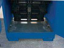 Armario de taller / para suelo / de acero inoxidable / para bidones