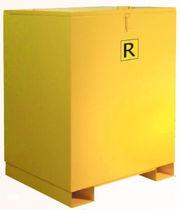 Cajón de metal / de reciclaje / apilable con tapa