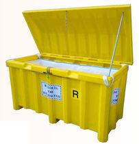 Contenedor plegable / metal / para la recogida de tubos fluorescentes