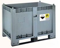 Contenedor apilable / de polipropileno / para el almacenamiento de baterías usadas