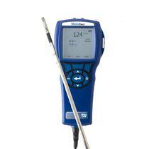Anemómetro de hilo caliente / de sondas múltiples / higrómetro / portátil