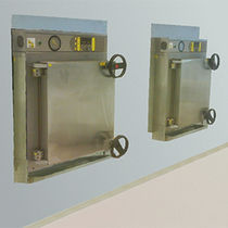 Autoclave de laboratorio / de carga frontal / de gran capacidad / de doble puerta pass-through