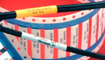 Manguito termorretráctil de identificación de cables