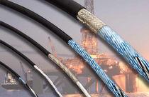 Cable óptico de datos / aislado / multiconductores / submarino