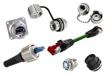 Conector de alimentación eléctrica / de fibras ópticas / RJ45 / IP67