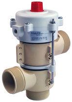 Válvula para agua caliente / acero inoxidable / de plástico / accionado neumaticamente