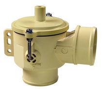 Válvula de vaciado / de acero inoxidable / de plástico / para vacío