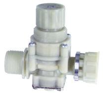 Regulador-reductor de presión para agua / de membrana / compacto