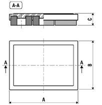 Amortiguador de vibración / de fricción / para carga pesada / para climatización