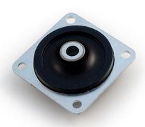 Soporte antivibratorio cuadrado / de caucho / para la industria naval / para dispositivo móvil