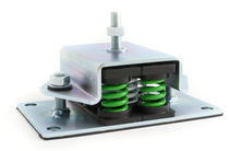 Soporte antivibratorio cuadrado / metálico / para climatización / neumático
