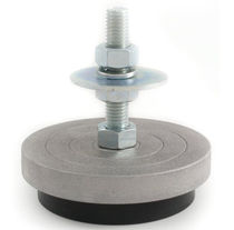 Pie de máquina / de acero galvanizado / de caucho / antivibración