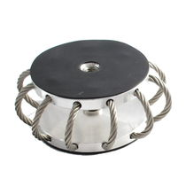 Soporte antivibratorio redondo / de acero / para aplicaciones aeronáuticas / para baja carga