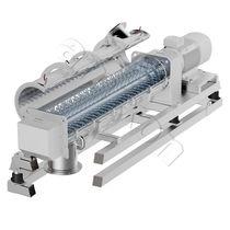 Mezcladora de palas / continua / de polvo / para granulados