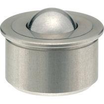Rodillo esférico de acero inoxidable / con zócalo cilíndrico