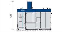 Centro de mecanizado 3 ejes / horizontal / de 2 husillos