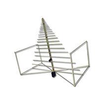 Antena de radio / log-periódica / bicónica / reforzada