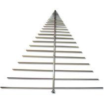Antena log-periódica / de radio / hembra / horizontal