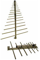 Antena log-periódica / de radio / horizontal / plegable