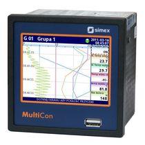 Registrador de datos universal / ethernet / con pantalla táctil / programable