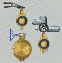 Válvula de mariposa / con volante / para el agua / wafer