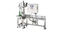 Llenadora de botellas / semiautomática / de líquidos / para producto denso