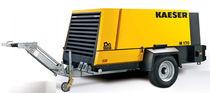 Compresor de aire / móvil / de tornillo / lubricado