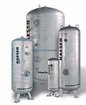 Depósito para aire comprimido / metal / de almacenaje / vertical