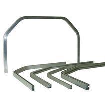 Perfil de aluminio / ranurado / de puerta