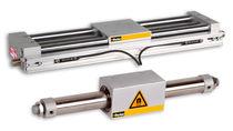 Cilindro accionada por aire / de doble efecto / sin varilla / con acoplamiento magnético
