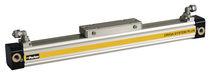 Actuador lineal / accionada por aire / de doble efecto / sin varilla