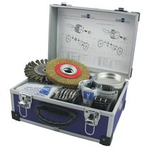 Máquina de limpieza en medio acuoso / manual / de proceso / de cepillo