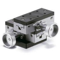 Platina de posicionamiento XY / de control manual / de 2 ejes / compacta