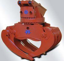 Pulpo hidráulico / para excavadora / de leña / para tubos