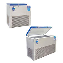 Congelador de laboratorio / de ultrabaja temperatura / de tipo arcón / para plasma sanguíneo