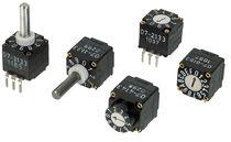 Conmutador rotativo / de selección / multipolar / PCB