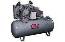 Compresor de aire / de pistón / lubricado / estacionario