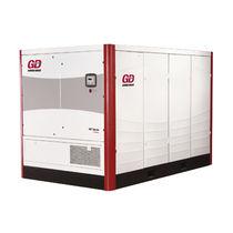 Compresor de aire / con tornillo / lubricado / estacionario