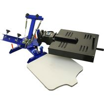 Máquina de serigrafia manual / de 2 colores / para listones de madera / rotativa