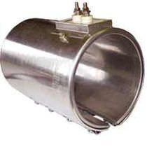 Calefactor de cinta / de tubos / por conducción / de acero inoxidable