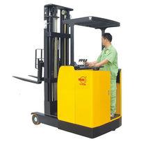 Carretilla retráctil eléctrica / para conductor de pie / para pasillos estrechos / para almacén