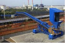 Transportador de banda / para la industria minera / para productos a granel / móvil