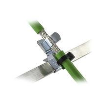 Abrazadera de cable de metal / con blindaje CEM / con de montaje con tornillo / de puesta a tierra