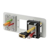 Placa de entrada de cable con carilla / para armarios eléctricos