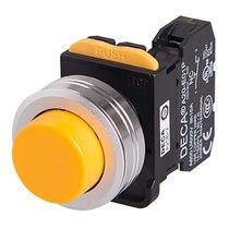 Botón pulsador de metal / electromecánico / acción momentánea / plano