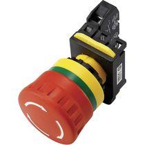 Botón pulsador con cabeza fungiforme / electromecánico / de parada de emergencia / IP20